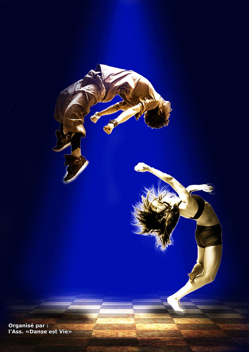 Spectacle Danse est Vie le 15 Juin à 20h30 et le 16 Juin à 16h30 espace René Cassin